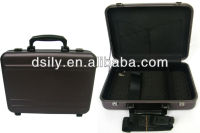 Moulded aluminum computer attache case ,gun metal hard tool case