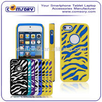 New Design 2 in 1 Zebra Stripes phone case phone cover for iphone 5 Accept Paypal