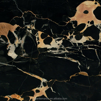 Black gold flower marble tile for marble floor and vanity tops with low price