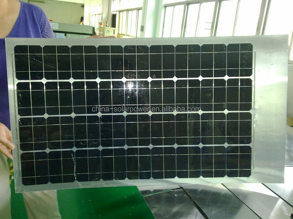 Hot Selling 80w Semi Flexible Monocrystalline Rv Solar
