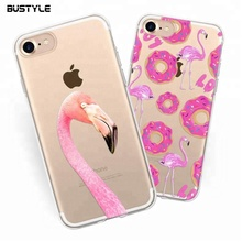Wholesale 3D soft clear silicone bumper cell phone case for iPhone 8