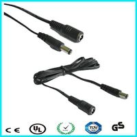 UL certified UL2464 24awg 3.5*1.35mm male female dc cable
