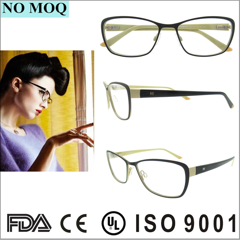 New Model Ready Made Stainless Optical Frame for Women