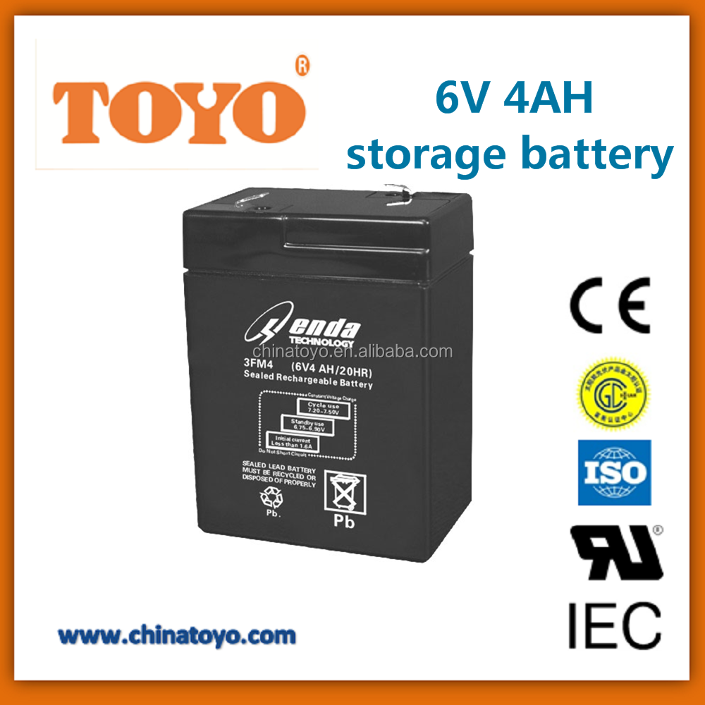 Security system 6v4ah AGM GEL rechargeable storage battery