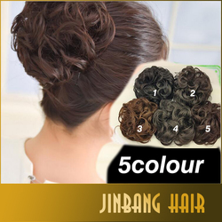 5 Color Human Hair Ballet Donut Hair Chignons Hair Bun Extension Updos for long hair Factory Direct Sale