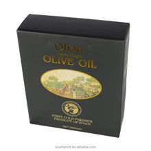 Golden Stamping Olive Oil Packaging Box for Gift