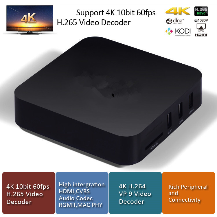 New arrival high quality rk3229 in Set Top Box with wifi R8089 and bluetooth
