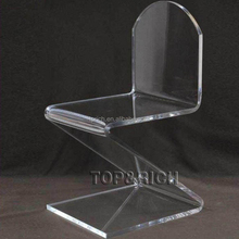 Z Shaped Acrylic Transparent Chair with Special Sheet