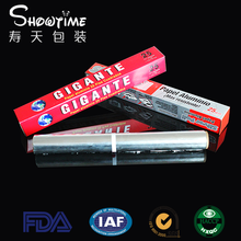 Aluminum foil/ 25 sq feet household aluminum foil roll/food packing aluminum foil (Showtime Packing)