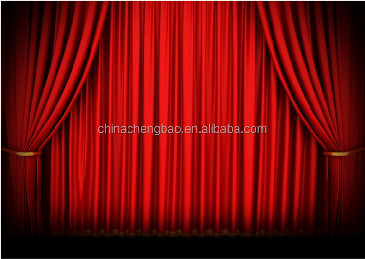 Motorized Velvet Fire Proof Fabric Stage Curtains For Sale