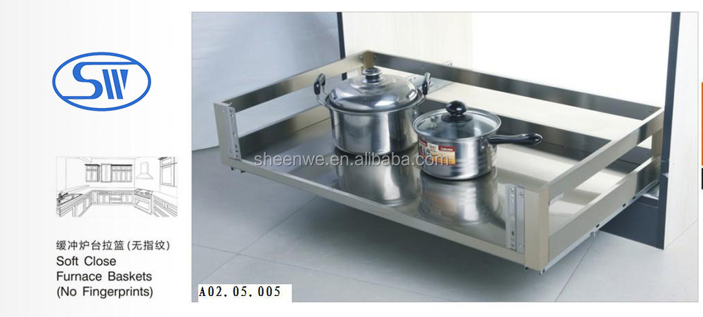 New arrival sliding drawer organizer guangzhou stainless for Kitchen cabinets 700mm