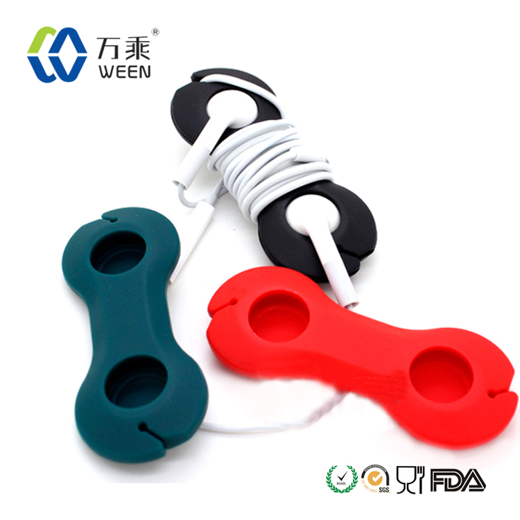 Durable resuable dog bone Headphone Earphone Organizer Wire Holder Cable Wire Organizer
