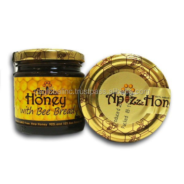 100% Natural, Raw Organic Honey With Bee Bread