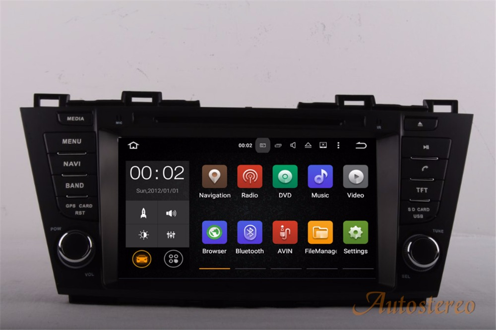 Android 5.1 Car GPS Navigation DVD Player Headunit FOR Mazda 5 Premacy 2010-2016
