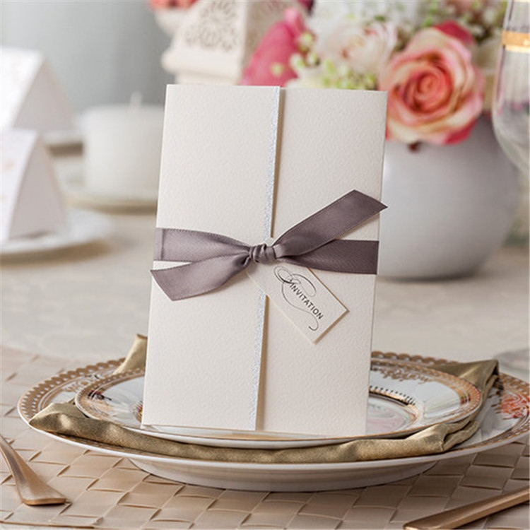 Luxurious scroll peronalized wedding invitation card models