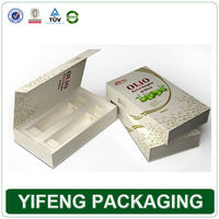 rigid eco-friendly recycle olive oil packaging box with foam tray