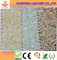 Glitter pu synthetic leather for bag