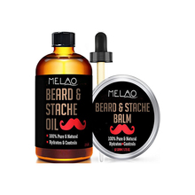 Beard Oil & Beard Balm Mens Gift Set ( 2 oz + 1.75 oz) Mustache Oil Beard Kit All Natural Conditioner (Argan