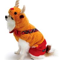 Christmas Gift Deer Elk Pet Dog Costumes Clothes Winter Clothes