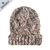 Custom fashionable cheap winter warm loom knitting hat