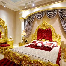 ART1100-Italy Style Brand New Bedroom Furniture, Royal Luxury Bedroom Furniture Set, King Size Bed With Wood Carving