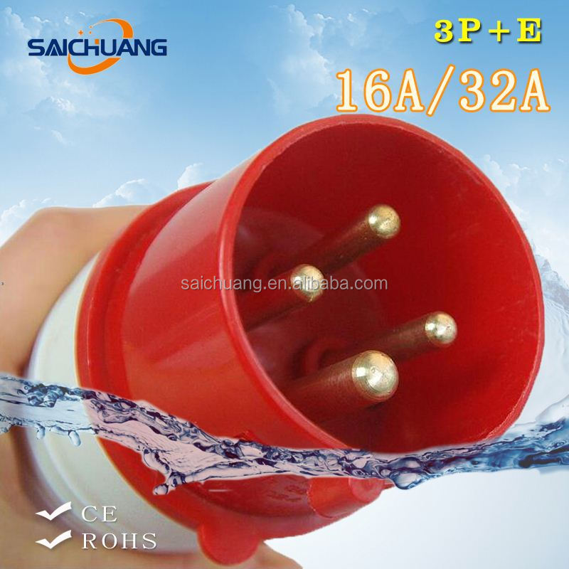 High Quality 16a industrial plug and socket cee plug 230v ip67waterproof sockets and plugs