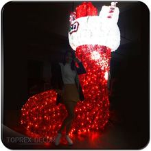 festive glittery walmart wholesale led light up merry christmas rope lights motif