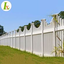 Yard Decorative PVC Picket Fence For Garden Portable