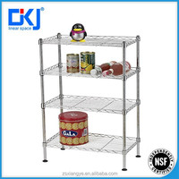 new designed 4-tiers chromed home storage /wire shelving/wire shelf