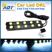 Car Headlight High Power High/Low Beam Warning Driving Fog Lamp Auto Head LED Daytime Running Light