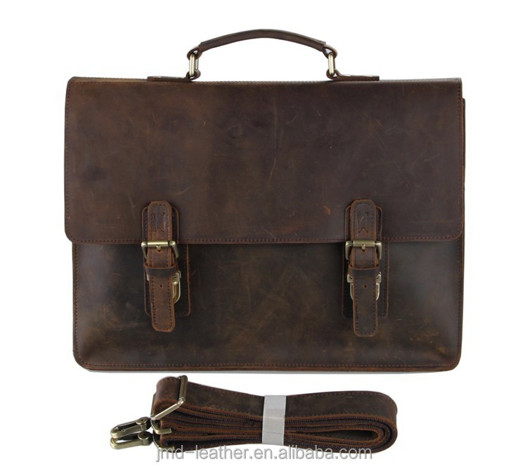 7223R-<strong>1</strong> Vintage <strong>Leather</strong> Men's Dark Brown Briefcase Messenger Laptop Bag Online Wholesale
