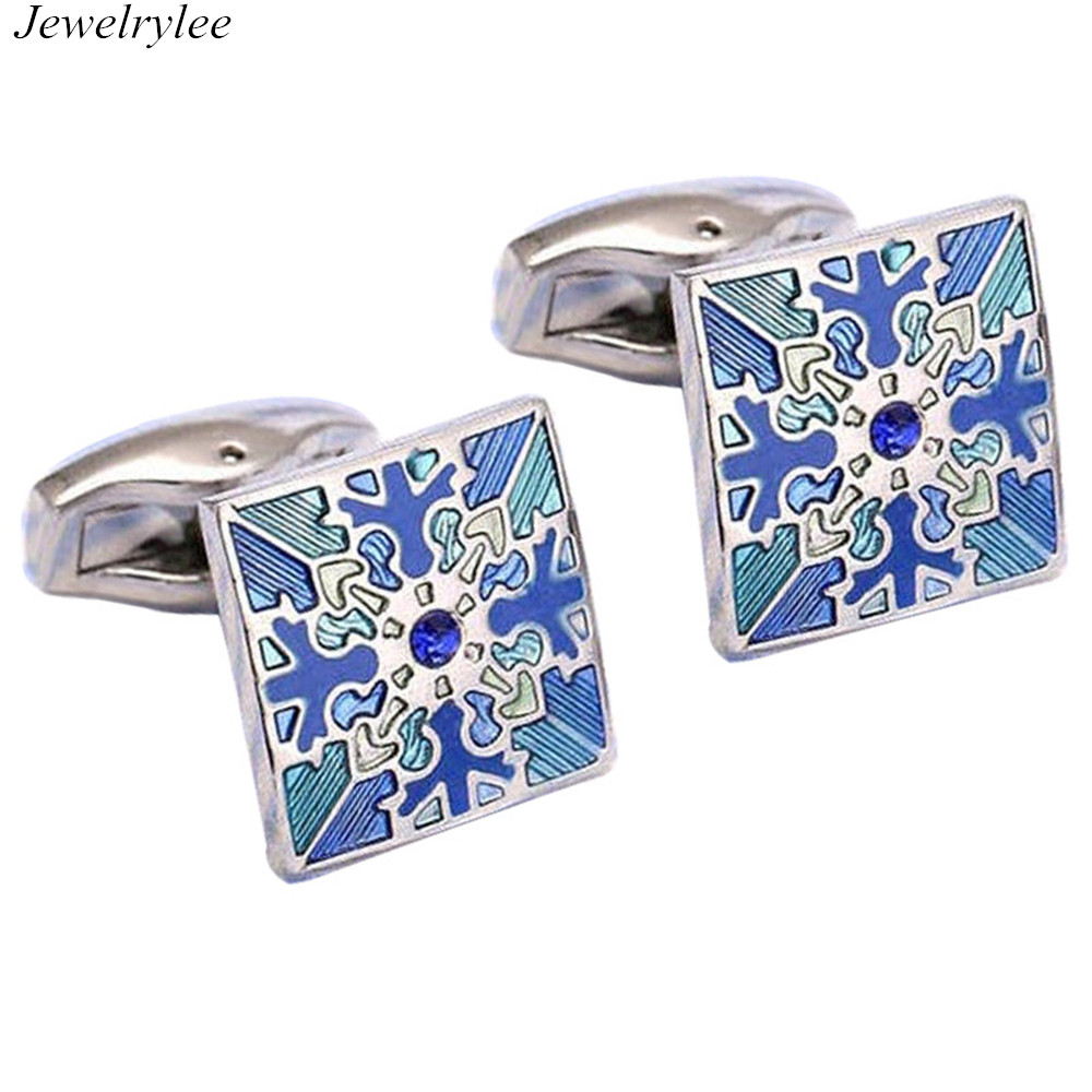 Metal or customized Material Type Snowflake Cufflinks Snow Shaped