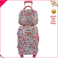 4pcs 2pcs 3pcs abs pc printed luggage cosmestic bag case set