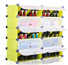 Plastic designer shoe rack closet organizer with cover