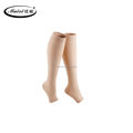 Compression medical socks knee length open toe with FDA certificate