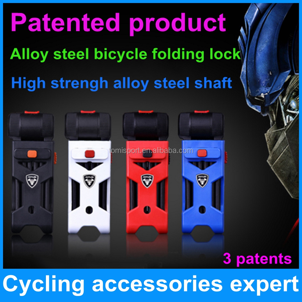 high security anti theft mountain motorcycle bicycle bike folding lock