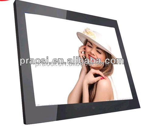 "15"" video, mp3, mp4 playback digital photo frame/ wall mounted digital picture frame"
