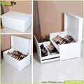 Wholesale Large white Shoe Cabinet Box Bench with Two Layers