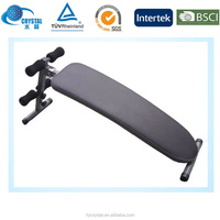 CRYSTAL SJ-002 Home ab fitness equipment sit up curved bench/abdominal trainer