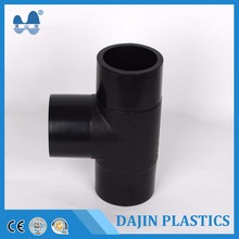 High Quality HDPE PE compression fitting Water Filter Pipe Fitting garden hose connector pipe equal Tee PN16 Fertigation System
