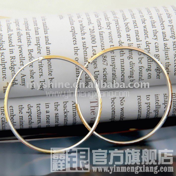 Myshine best gift Chinese charming lady silver Color separation ear ring