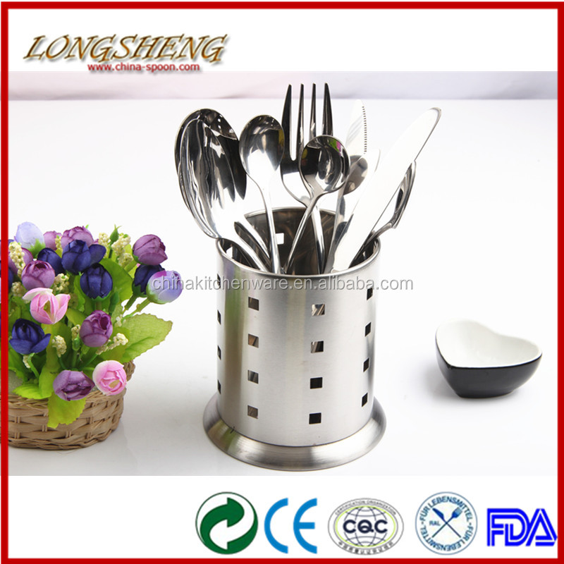 2014 Stainless Steel Kitchen Utensil Holder CT04 4 Fork Spoon Rack