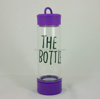 Portable Pyrex Glass Water Bottle with different colors Silicone Sleeve Unbreakable