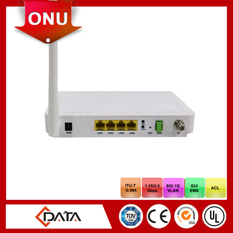 4GE+ CATV+ Wi-Fi Single Fiber ftth catv optical receiver GPON ONU FD704GW