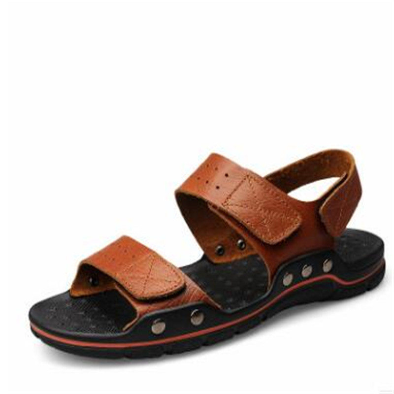 2018 fashion Summer hot British new style confort beach outdoor casual men leather flip flop <strong>sandals</strong>