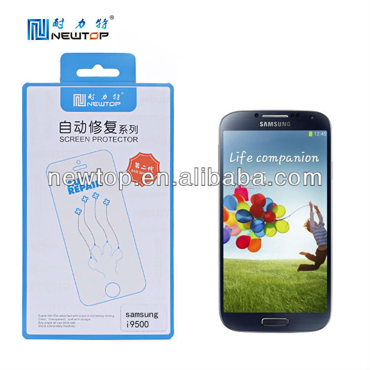 Hot selling auto-repair mobile phone screen film for Samsung galaxy S4 i9500
