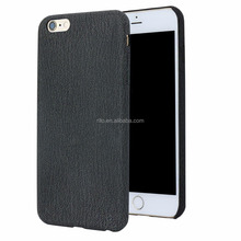 Denim PU Leather Hard Shell Cover for iPhone 6 6s Plus Case 5.5 inch, Classic Black, Wholesale