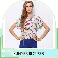 New Arrival 2015 Women Fashion new design fashion summer blouse factory