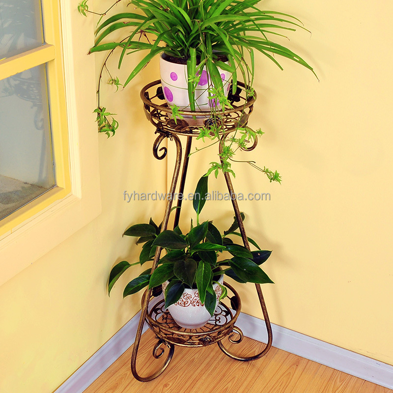 Metal flower stand pot holder for plant