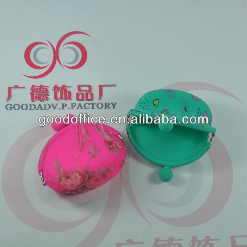 high quality and low price OEM promotional gift silicone purse